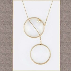 Jewelry - Pearl & Double Hoops Necklace
